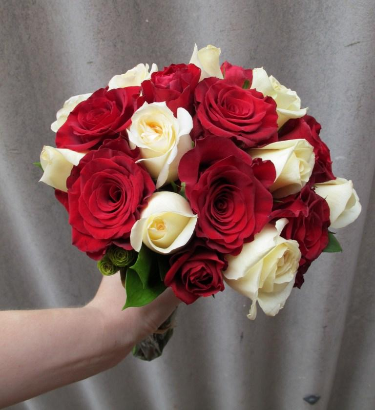 Red Amp White Rose Wedding Bouquet
