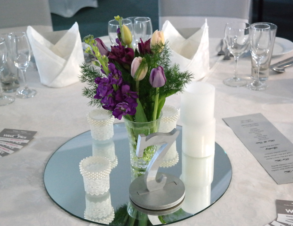 Tulips in a Table Arrangement