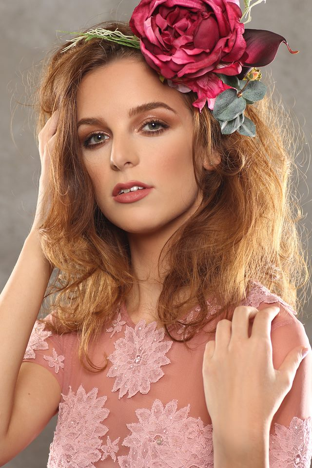 Hot-Pink Rose Headpiece