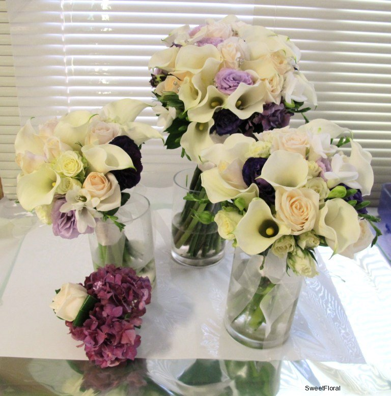 March Wedding Purple White Bouquet 39s Friday March 30th 2012